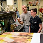 Productiehal Print