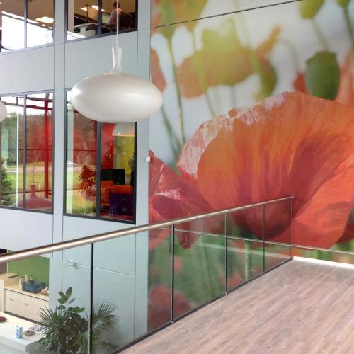 Werkplekinrichting interieurdecoratie Blomsma Print & Sign wanddecoraties