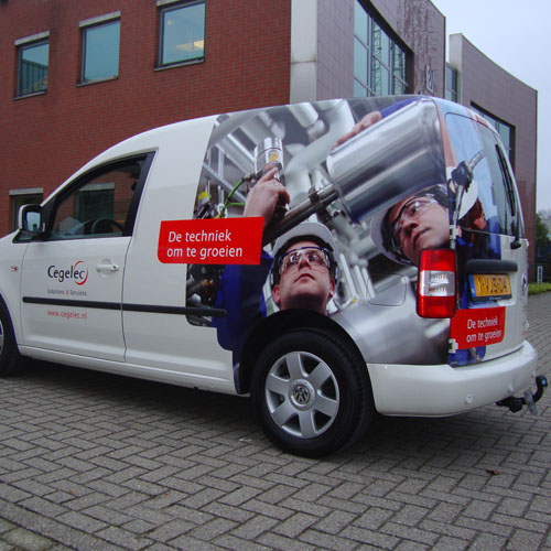 Bestickering Wagenpark Cegelec