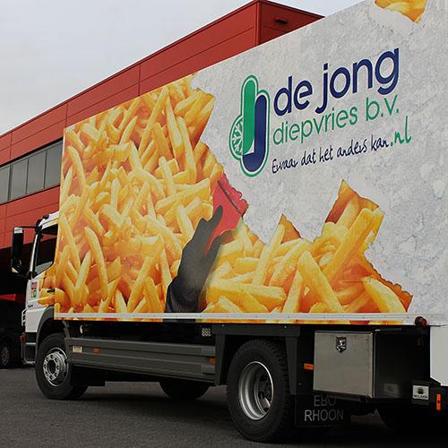 Wagenparkbestickering De Jong Diepvries