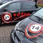 Wagenpark belettering Eddee Zorgverlening