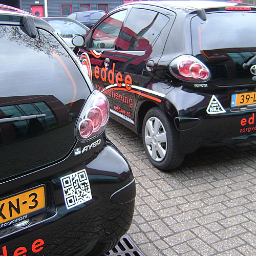 Wagenpark belettering