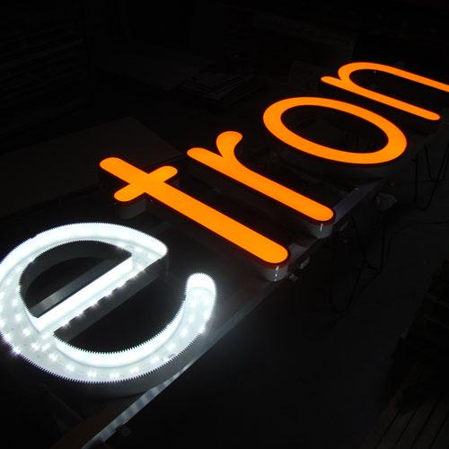 Doosletters met LED verlichting