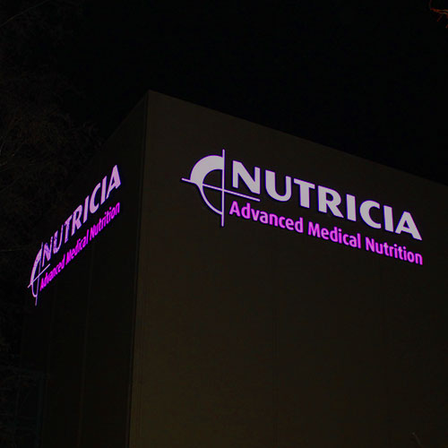 LED Lichtreclame Nutricia