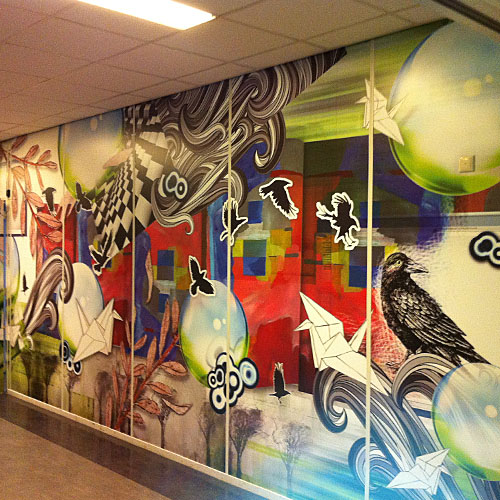 Interieurdecoraties Pax Christie College