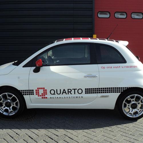 Autobestickering Qaurto
