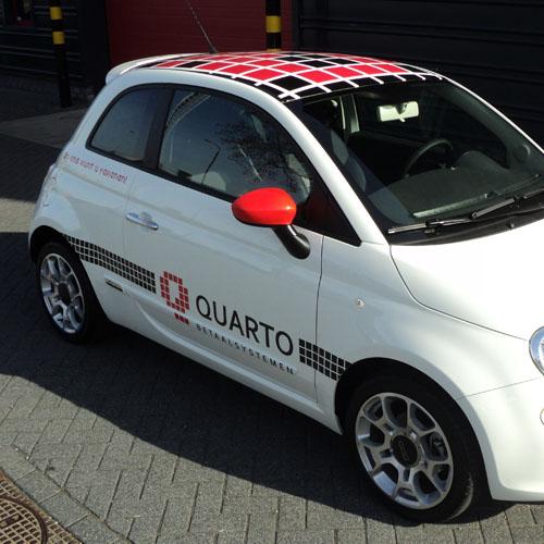 Bestickering Fiats 500 Qaurto