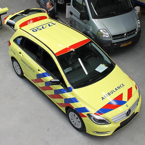 Ambulance bestickering