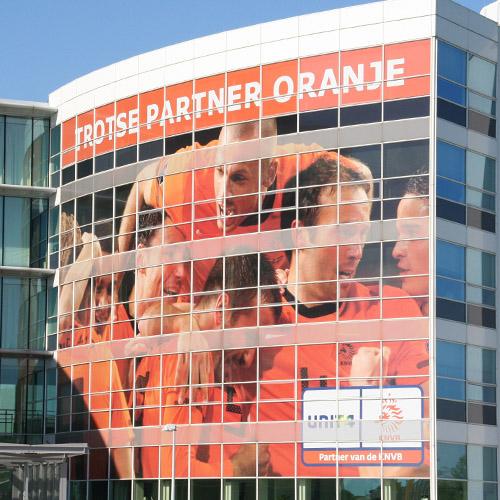 Gevelreclame UNIT4 Oranje EK2012