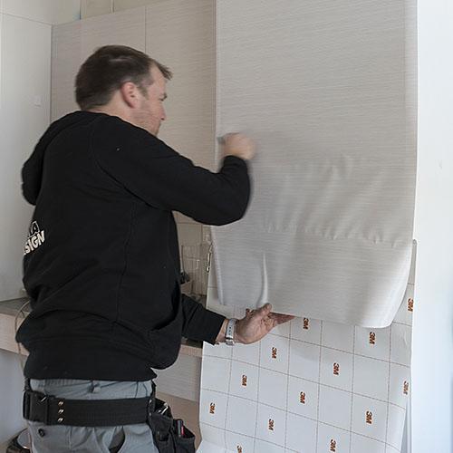 Montage renovatiefolie Folies voor gebouwen