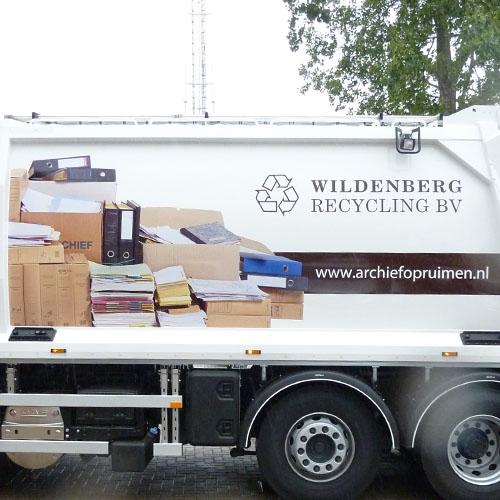 Bestickering kraakwagens Wildenberg