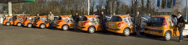 Aflevering auto's