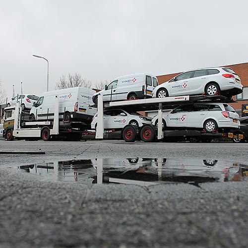 Aflevering bedrijfsauto's VINCI