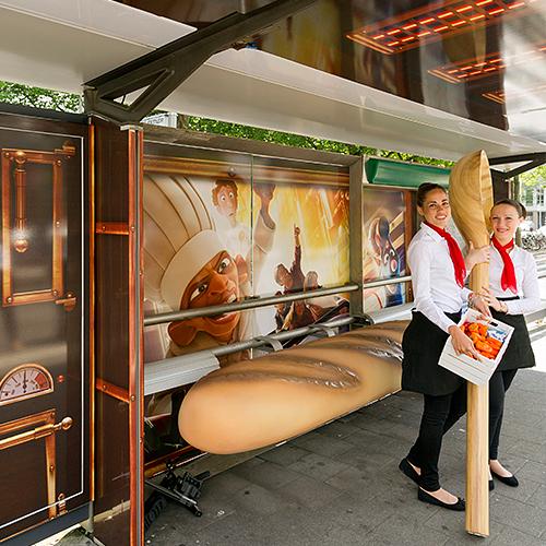 Ratatouille reclame abri event signing aankleding Blomsma Print & Sign creatieve reclame-uitingen
