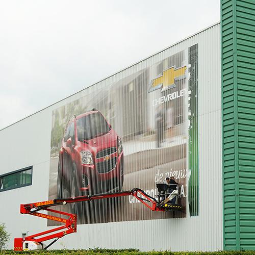 Montage gevelvisual Chevrolet Trax