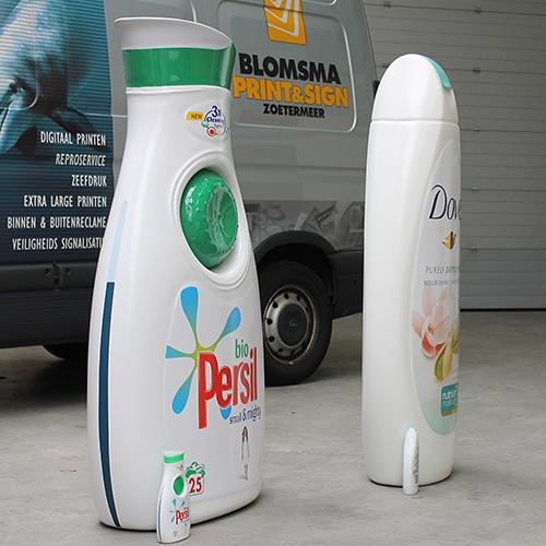 Blowups Dove en Persil verpakking