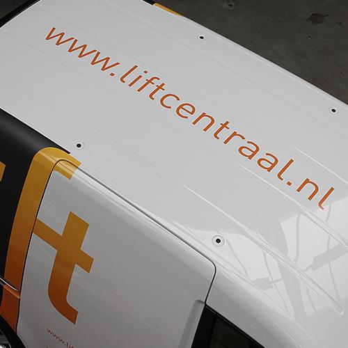 wagenparkbestickering Lift centraal