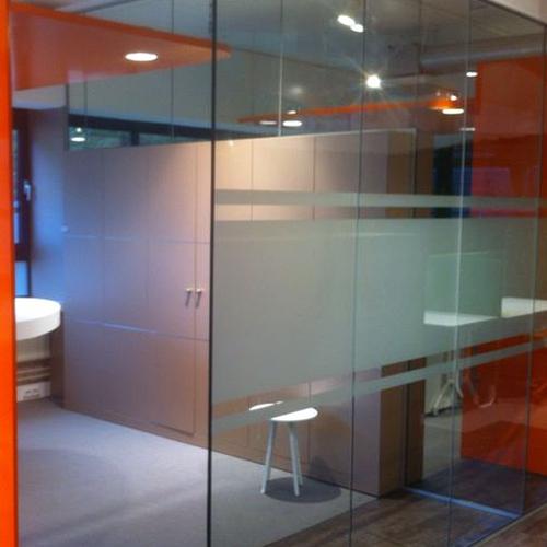 werkplekinrichting glasdecoratie