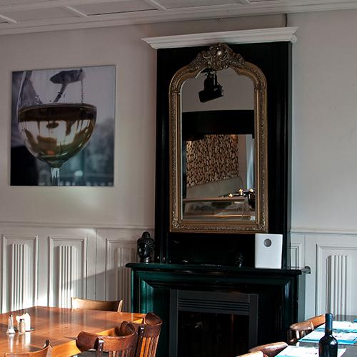 Akoestische panelen in restaurant Blomsma Print & Sign