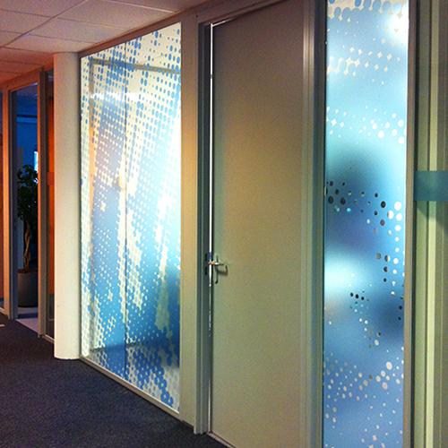 glasdecoratie Folies voor gebouwen
