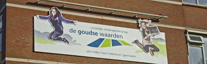 reclamebord gevel