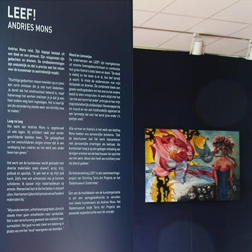 wandpaneel kunstexpositie