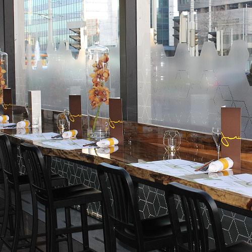 restaurant glasdecoraties