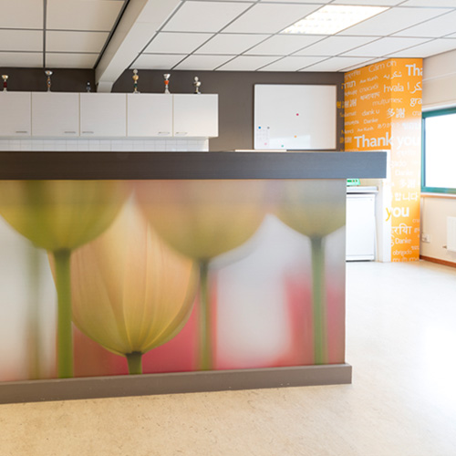 Interieurdecoratie kantine Blomsma