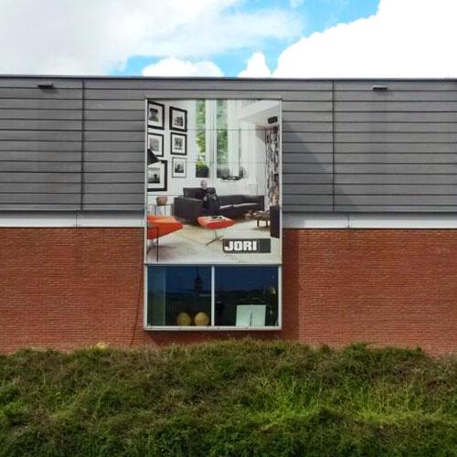Gevelvisuals Van Waay Interieurs | Blomsma Print & Sign