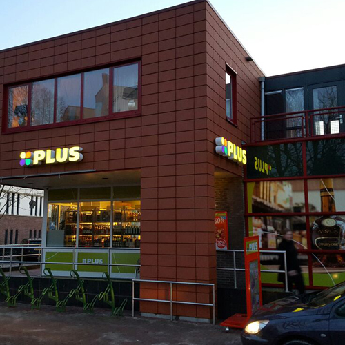 Diverse outstore signing voor restyling plus blankhorst