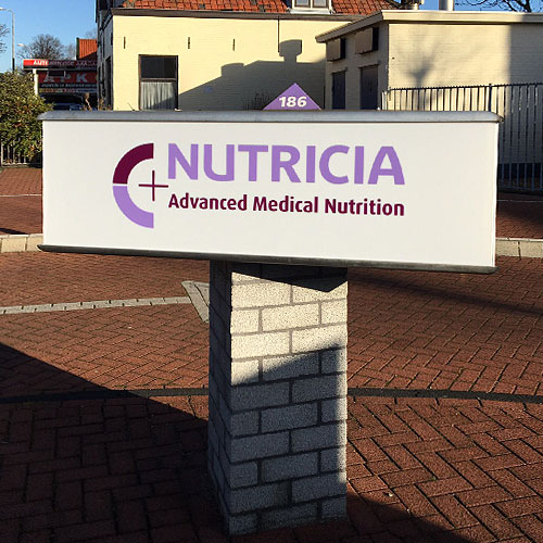 Driehoekslichtbak nutricia