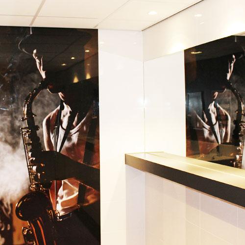 hoogglans fotopanelen voor muziekcentrum enschede