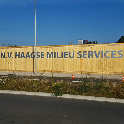 wandbelettering Haagse Milieu Services