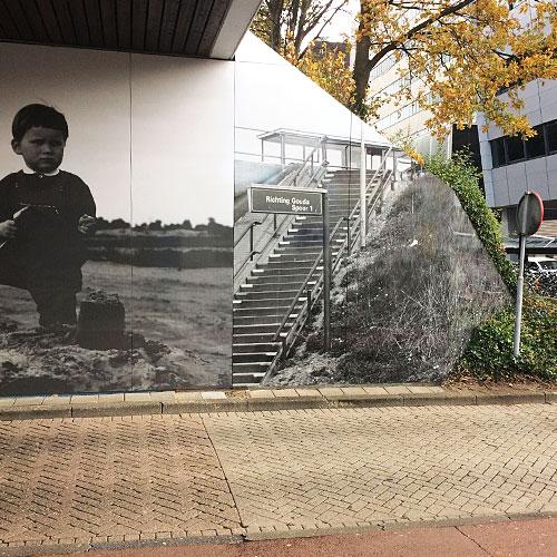 Full color wandvisuals fotopanelen station Rotterdam Alexander