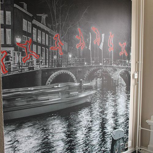 wanddecoraties voor Prinsen Hotel Amsterdam
