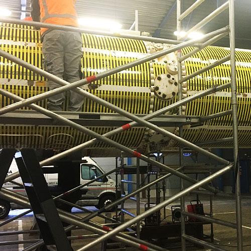 Bestickering van hydrohammers Seaway Heavy Lifting