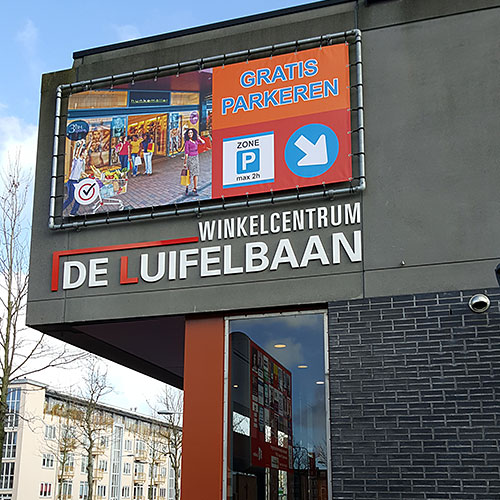 Aanpassing bewegwijzering en signing Winkelcentrum de Luifelbaan
