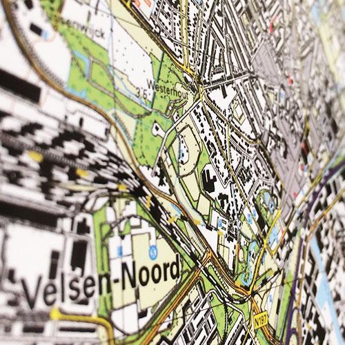 wandvisual Gemeente Amsterdam Blomsma