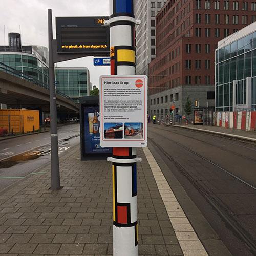 e-bus Qbuzz Den Haag Utrecht tijdelijke bestickering Blomsma