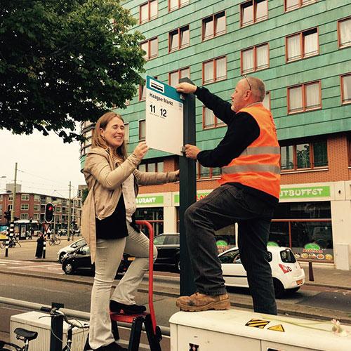 Blomsma Print & Sign Haagse Markt Halte Bewegwijzering