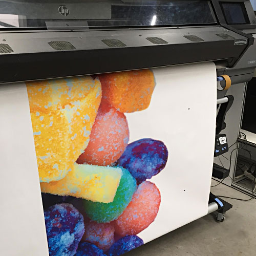 Bakwagen full color bestickering Blomsma Print & Sign