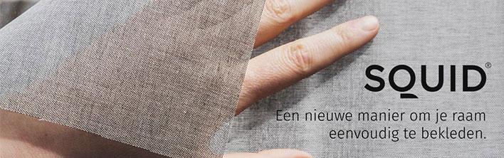 Zelfklevend textiel raamdecoratie van SQUID beschikbaar bij Blomsma Print & Sign