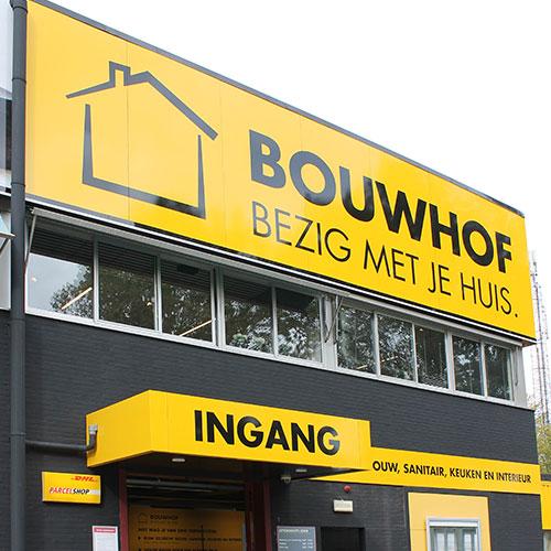 Blomsma Print & Sign gevelrenovatie signing Bouwhof Zoetermeer