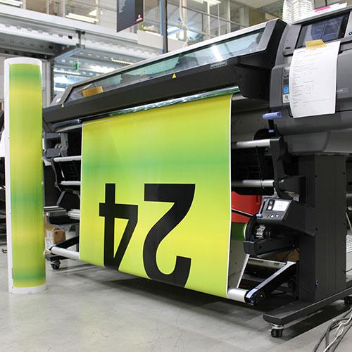 Printproces Blomsma Print & Sign Treinbestickering locomotief