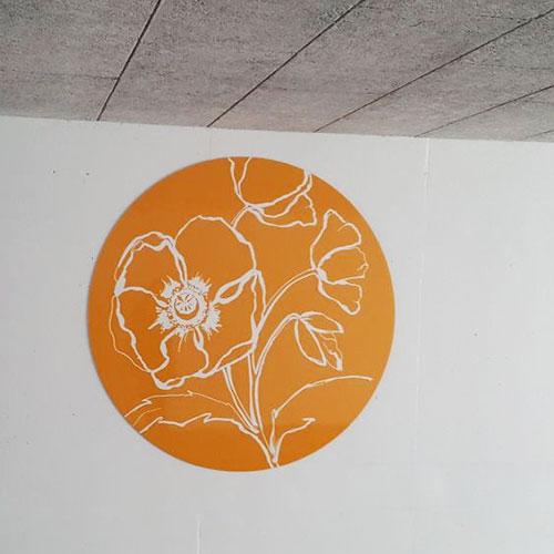 Verfraaiing Klaproostunnel gemeente Pijnacker-Nootdorp Blomsma Print&Sign
