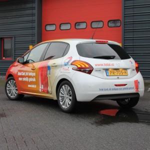 TOTAL Nederland fullwrap Peugeot 208 door Blomsma Print & Sign