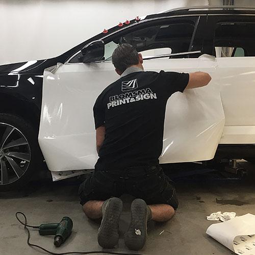 Blomsma Print & Sign carwarapping autobestickering liftcentraal skoda caddy