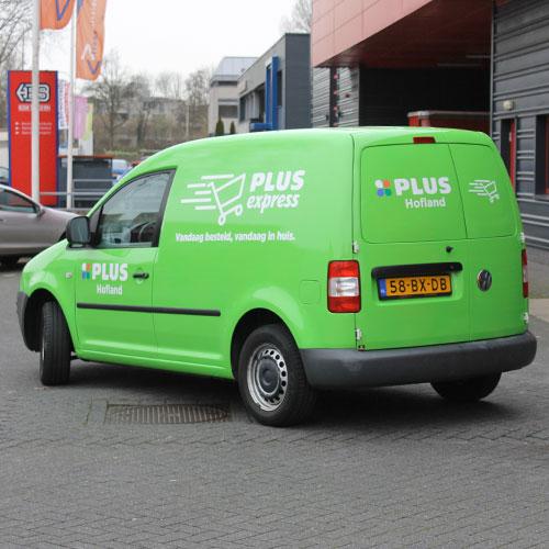 Blomsma tovert PLUS auto om van wit naar groen