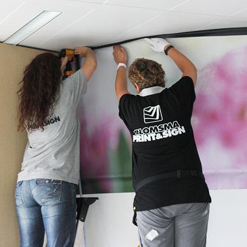 Nutricia akoestische wanden panelen Blomsma Print & Sign