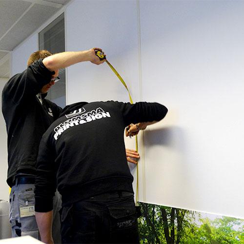 Blomsma Print & Sign Siemens kantoor decoraties, wandvisuals en glasfolie